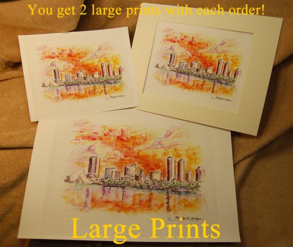 Large prints by artist Stephen F. Condren.