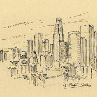 Los Angeles Skyline Pen & Inks