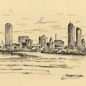 Milwaukee Skyline Pen & Inks