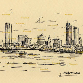 Milwaukee Skyline Pen & Inks