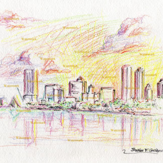 Milwaukee Skyline Drawings