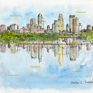 Minneapolis Skyline Watercolors