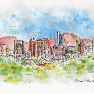 Phoenix Skyline Watercolors