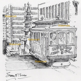San Francisco City Scene Pen & Inks And Prints
