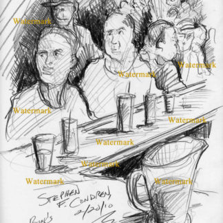 Buck's Tavern Bar Scene Drawings