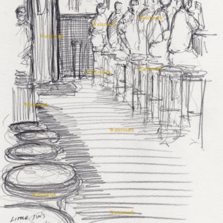 Little Jim's Tavern Bar Scene Drawings And Prints