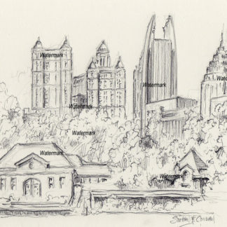 Atlanta Skyline Drawings