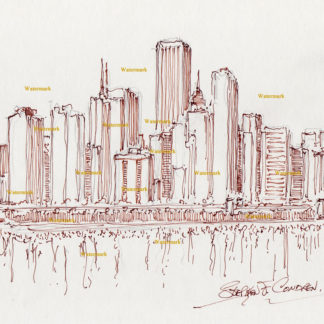 Chicago Skyline Pen & Inks