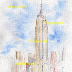 Manhattan Landmark Watercolors