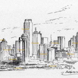 Dallas Skyline Pen & Inks