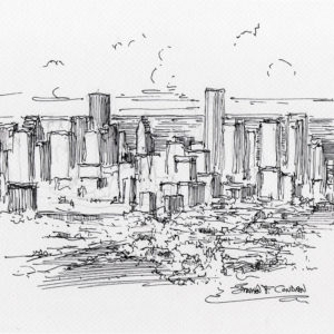 Houston Skyline Drawings