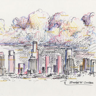 Los Angeles Skyline Drawings