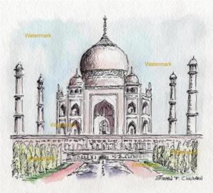Taj Mahal watercolor