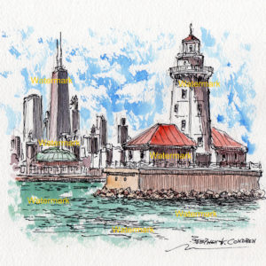 Lighthouses Watercolors