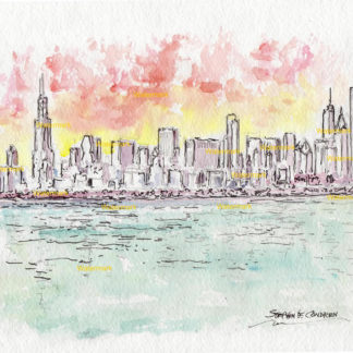 Chicago Skyline Watercolors