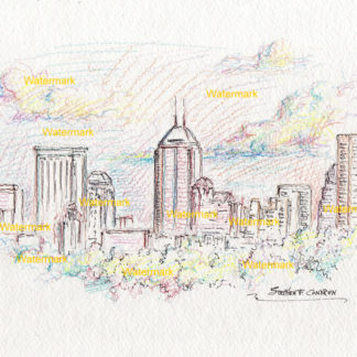 Indianapolis Skyline Drawings