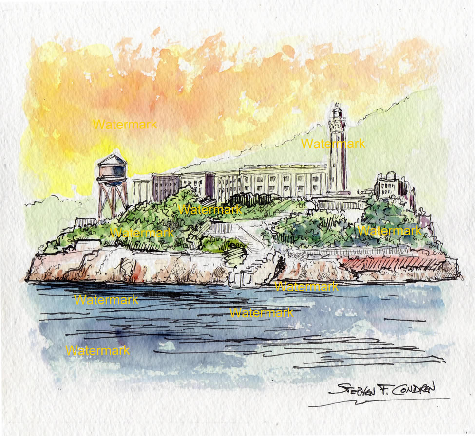 San Francisco Landmark Watercolors
