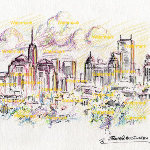 Buffalo Skyline Drawings