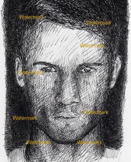 Bryce Thompson #981A celebrity pen & ink portrait.