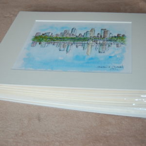 Stack Of Matted Skyline Prints