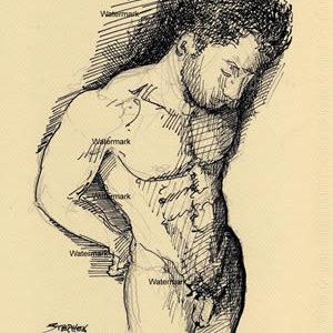 Male Figure Pen & Inks