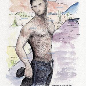 Male Figure Watercolors