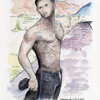 Male Figure Watercolors And Prints
