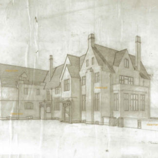 Loeb mansion #5000A landmark drawing from the Leopold-Loeb murder trial of 1924 in Chicago.