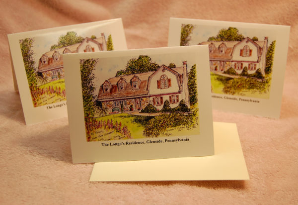 House portrait note cards by artist Stephen F. Condren.