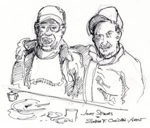 Jory Spears and Stephen F. Condren pen & ink drawing