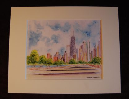 Chicago skyline watercolor