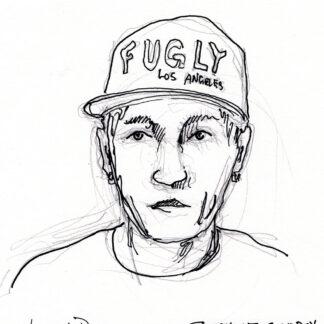 Johnny Depp creepy celebrity art drawing