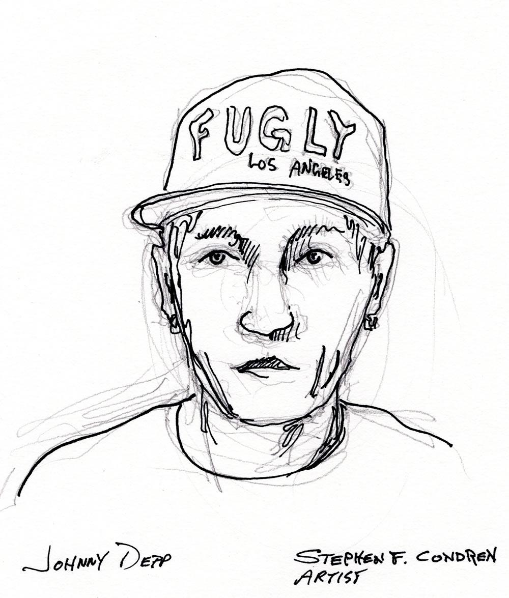 Johnny Depp Creepy Drawings And Prints 083k Condren Galleries
