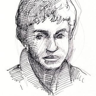 Valerie Jarrett celebrity art pen & ink drawing