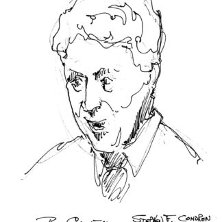 Bill Clinton celebrity art pen & ink drawing