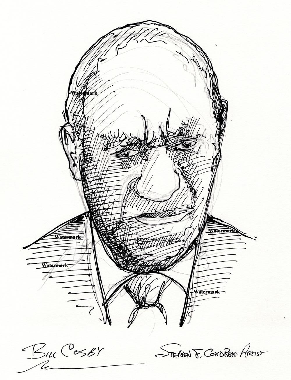Bill Cosby celebrity art pen & ink drawing
