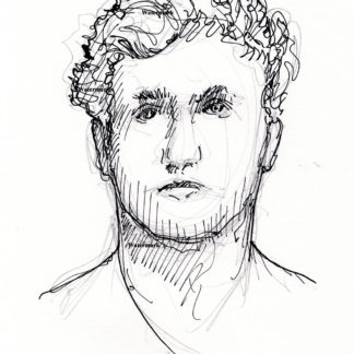Logan Paul celebrity art pen & ink drawing