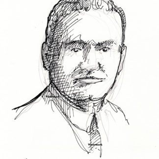 Enrico Caruso pen & ink drawing