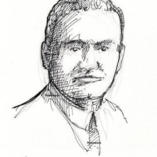 Enrico Caruso pen & ink drawing
