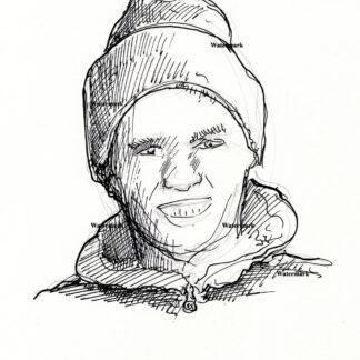 Tom Brady pen & ink drawing 2403