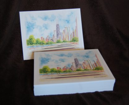 Stack of skyline prints for volume orders