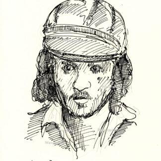 Johnny Depp pen & ink drawing 7/9/2018A