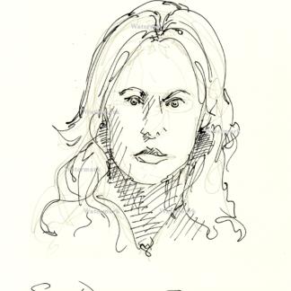 Stormy Daniels pen & ink