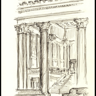 Chicago Union Station #121A pencil drawing with JPEG & PDF scans