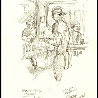 Bar Scene #125A live pencil drawing of people & JPEG scans.