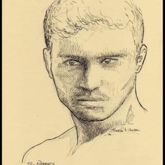 Bo Roberts pen & ink drawing by Stephen F. Condren.