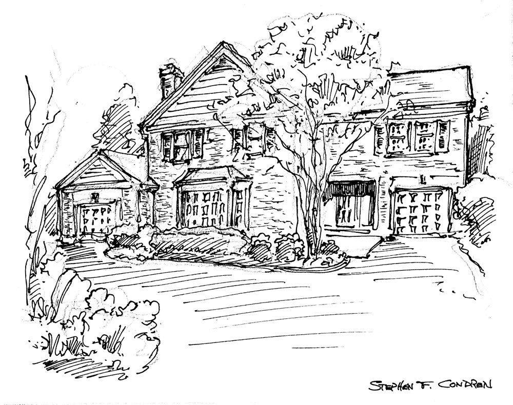 Pen & ink house portrait 8/10/2018C.