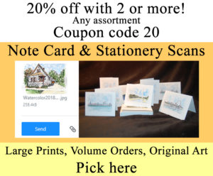 Scans for note cards and stationary.