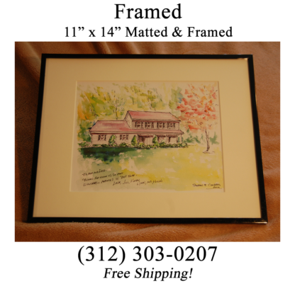 Framed House Portrait