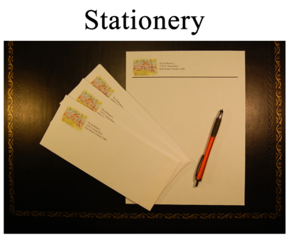 Stationery With House Portrait By Stephen F. Condren